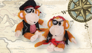 RINCO Plush Pirate Monkey